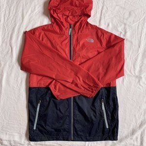 The North Face windbreaker jacket xs/s red hooded